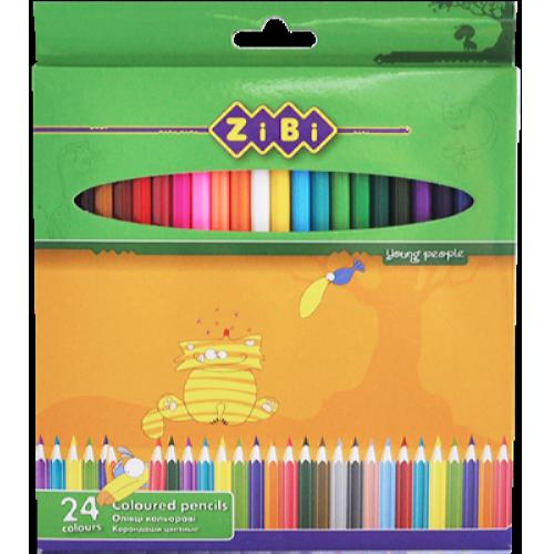 Олівці кольорові Zibi Standart, 24 кольори