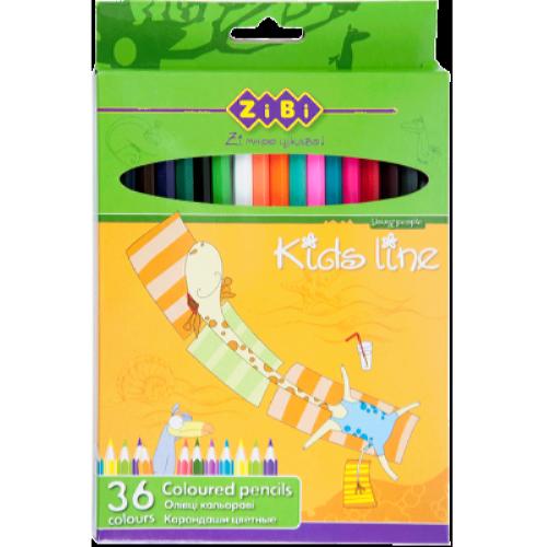 Олівці кольорові Zibi Standart, 36 кольорів