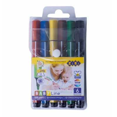 Фломастери Brush Jumbo 6 кольорів ZiBi