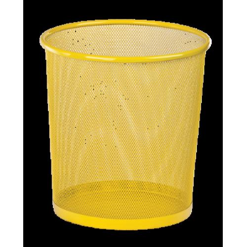 Кошик для паперів Zibi 295x295x280мм, метал., жовта