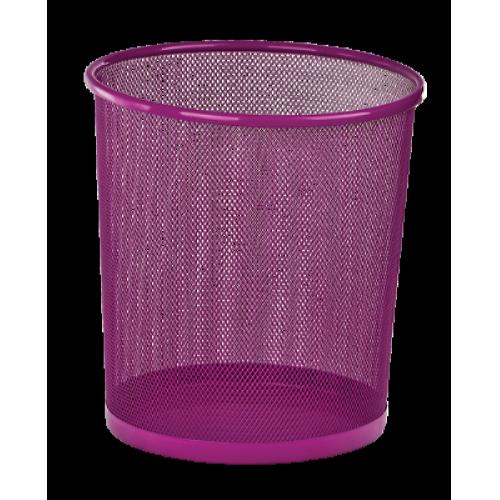 Кошик для паперів Zibi 295x295x280мм, метал., рожева