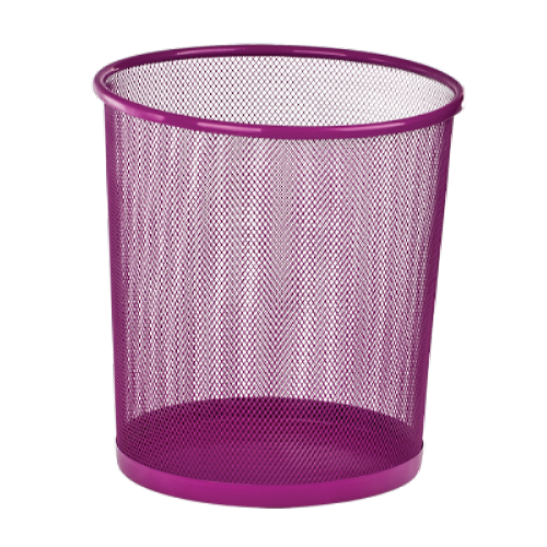 Кошик для паперів Zibi 295x295x280мм, метал., фіолетова