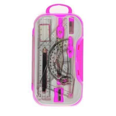 Готовальня BASIS, 10 предметов, розовый