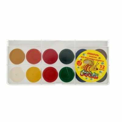 Краски акварельные Smart 12 цветов