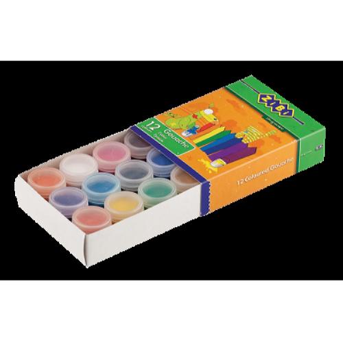 Гуаш 12 кольорів х 10мл ZiBi