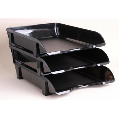 Лоток для паперів горизонтальний КИП ЛГ-06, чорний