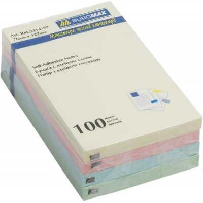 Блок бумаги для записей с клейким слоем 76х102мм (BM.2313-99)
