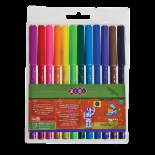 Фломастери 12 кольорів ZiBi