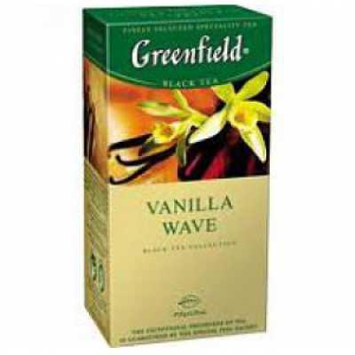 Чай Greenfield Vanilla Wave черный 25п*1,5г