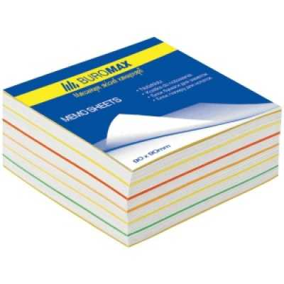 Блок паперу для нотаток Веселка 90х90х40мм