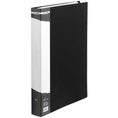 Папка пластиковая А4 60 файлов Buromax, черная
