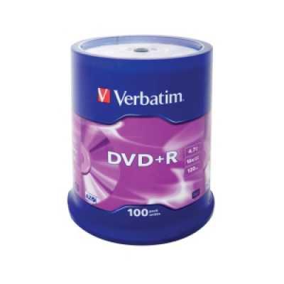 Диск Verbatim DVD + R 4.7Gb 16х Cake 100