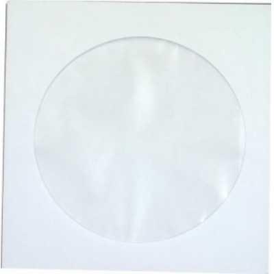 Конверт для CD/DVD дисков (127х127) мк окно d100мм
