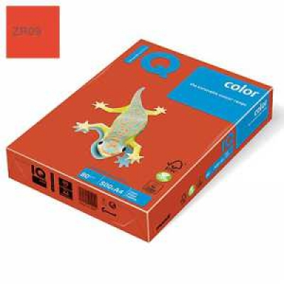 Папір кольоровий IQ Color, А4 / 80, 500л. ZR09, темно-червоний