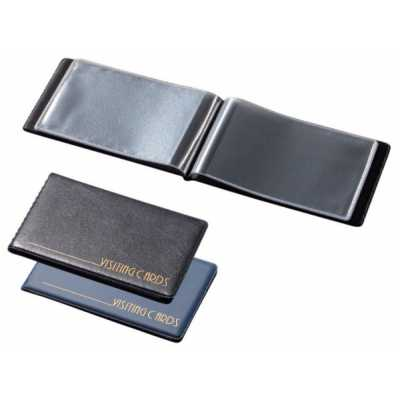 Визитница на 24 визитки, Panta Plast PVC черная