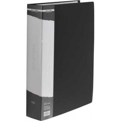 Папка пластиковая А4 100 файлов Buromax, черная