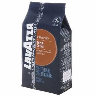 Кофе Lavazza Espresso Super Crema в зернах 1000 г