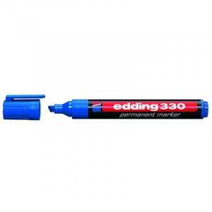 Маркер Edding Permanent e-330 1-5 мм клиноподібний синій