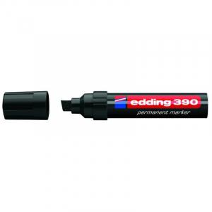 Маркер Edding Permanent e-390 4-12 мм клиноподібний чорний