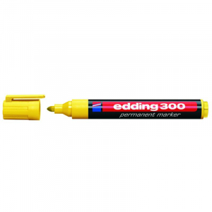 Маркер Edding Permanent e-300 1,5-3 мм круглий жовтий