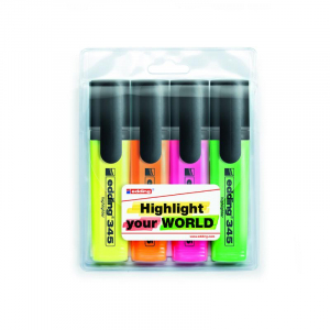 Набір: 4 Маркера текстових Edding Highlighter e-345