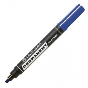 Маркер Centropen Permanent 8576 1-4,6 мм клиноподібний синій