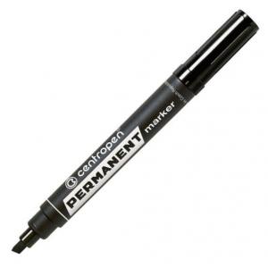Маркер Centropen Permanent 8576 1-4,6 мм клиноподібний чорний