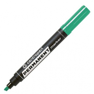 Маркер Centropen Permanent 8576 1-4,6 мм клиноподібний зелений