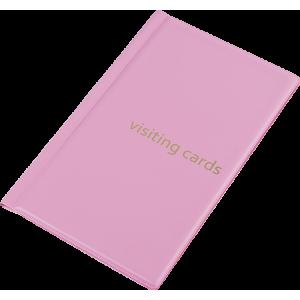 Візитниця на 60 візиток, PVC рожева