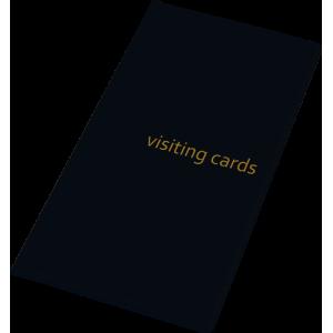 Визитница на 96 визиток, PVC черная