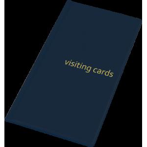 Візитниця на 96 візиток, PVC темно-синя