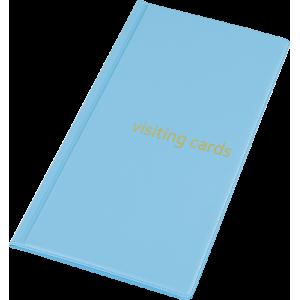 Візитниця на 96 візиток, PVC блакитна
