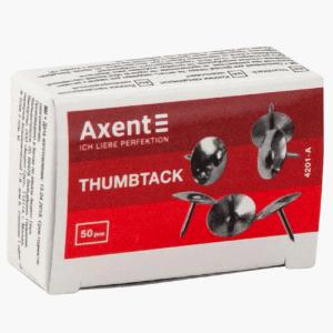 Кнопки никелированные Axent 50 шт. (4201-A)