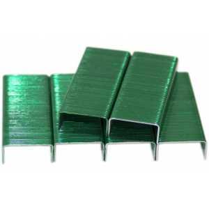 Скобы для степлера Kangaro №10, зеленые