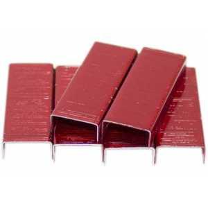 Скобы для степлера Kangaro №10, красные