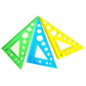 Косинець пластмасовий 23см, кольоровий