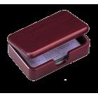 """Деревянный контейнер для визиток """"красное дерево"""""""