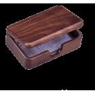 """Деревянный контейнер для визиток """"орех"""""""