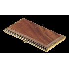 Металлический футляр для визиток, орех