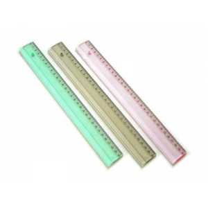 Лінійка пластмасова 30см, кольорова