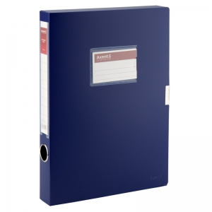 Папка-коробка на липучке Axent 1736-02-A, 36 мм, А4, синяя