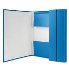 Папка-бокс на резинках А4 картонная, синяя