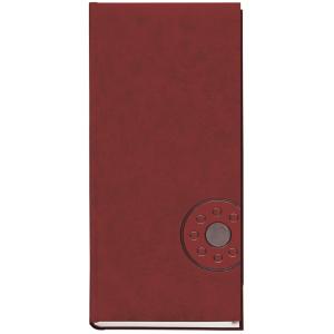 Книга алфавітна, 135х285 мм, 176 аркушів, бордо