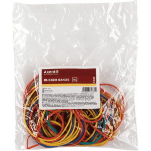 Гумки для грошей Axent D4620, 50 г, кольорові