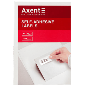Етикетки з клейким шаром Axent, 105*42,3- 14шт (2474-A)