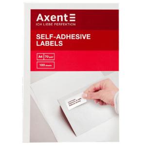 Етикетки з клейким шаром Axent, 38,1*21,2 - 65шт,закруглені (2470-A)