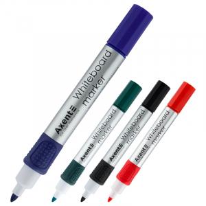 Набор: 4 маркера для досок Axent Board 2551-A, 2 мм круглый