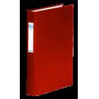 Регистратор с кольцевым механизмом A4/2R/40мм, красный