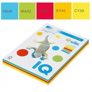 Набор цветной бумаги IQ Color, А4/80 (5х50/250л.), RB02