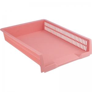 Лоток горизонтальный AXENT Pastelini, розовый